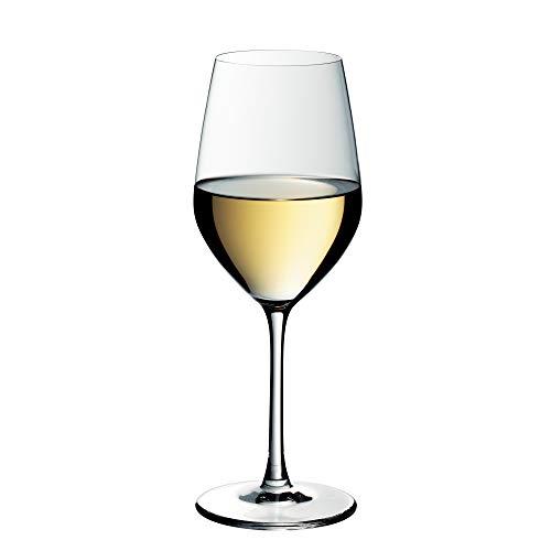 WMF Easy Plus Weißweinglas 390 ml, Weinglas, Kristallglas, spülmaschinenfest, transparent
