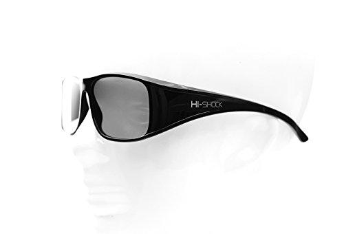 Hi-SHOCK 4er-Pack passive 3D-Brille für passive 4K 3D TVs von LG, Philips, Grundig, Toshiba | kompatibel mit AG-F420, PTA417, ZCW000, TY-EP3D20E / PX1821E-1TVA [ Polarisations-3D-Technologie, Set]