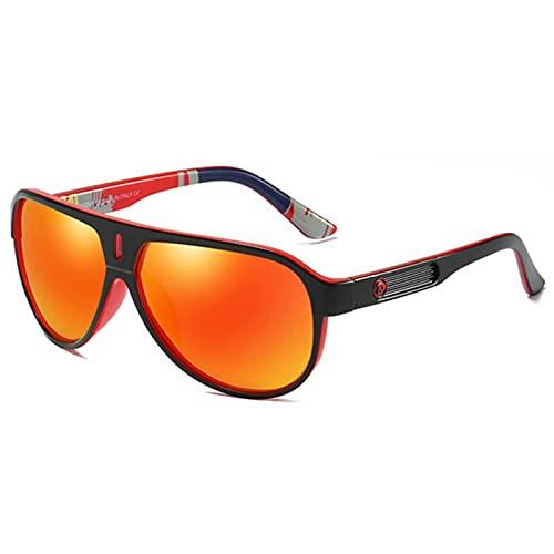UKKD Gafas De Sol Hombres Polarizados Gafas De Sol Pilotaje De Sol De Ocio Al Aire Libre Estilo Deportivo Marco Ultrarrápido Moda Gafas De Sol-D163 03