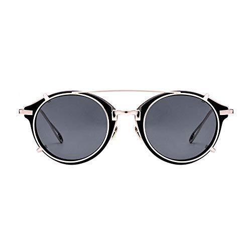 LOYFUN - Gafas de sol para hombre y mujer, estilo steampunk,
