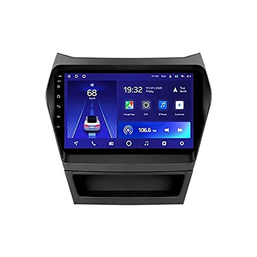 Reproductor multimedia estéreo de coche con pantalla táctil HD de 9 pulgadas para Hyundai Santa Fe 3 2013-2016 con GPS Wifi 4G Bluetooth FM SWC Mirrorlink receptor de vídeo, 4 Core 4G+WiFi: 2+32 GB
