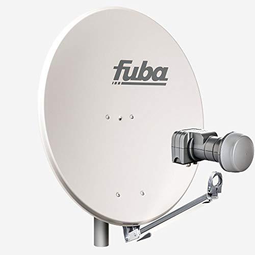 Fuba 2 Teilnehmer Sat Anlage DAL 802 G   Sat Komplettanlage mit Fuba DAL 800 G Alu Sat-Schüssel/Sat-Spiegel grau + Fuba DEK 217 Twin LNB für 2 Receiver/Teilnehmer (HDTV-, 4K- und 3D-kompatibel)
