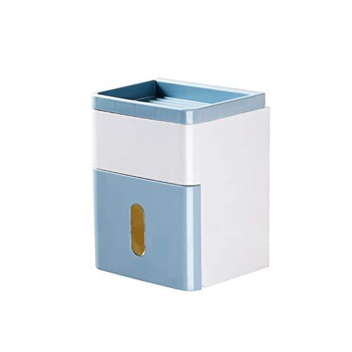 CML Salle de Bains Porte-Papier hygiénique Boîtes de mouchoirs placé téléphone Facile à Placer (Color : Blue)