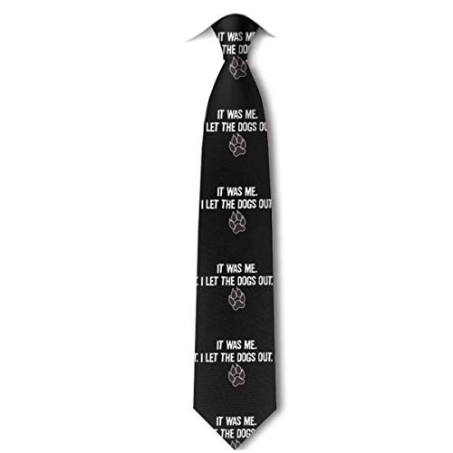 Web--ster Fui yo dejé salir a los perros Corbata de caballero de moda Corbata de caballero