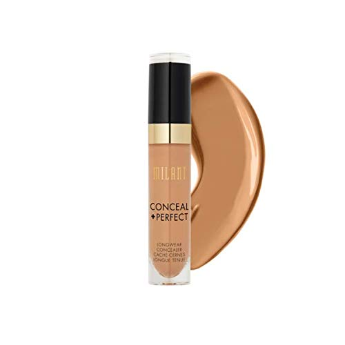 Milani Conceal + Perfect Longwear Concealer - Warm Beige (0.17 Fl. Oz.) Vegan, Cruelty-Free Liquid Concealer - Cover Dark Circles, Blemishes & Skin Imperfections for Long-Lasting Wear