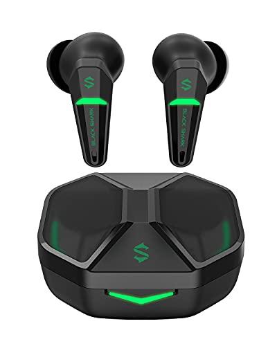 Black Shark Auriculares Inalambricos con Latencia Ultrabaja de 55ms, Auriculares Bluetooth Gaming con Bluetooth 5.2, Dual Mode, Drivers de 10mm, Tiempo de Uso 35h, IPX4 de Impermeabilidad, 4 Micró