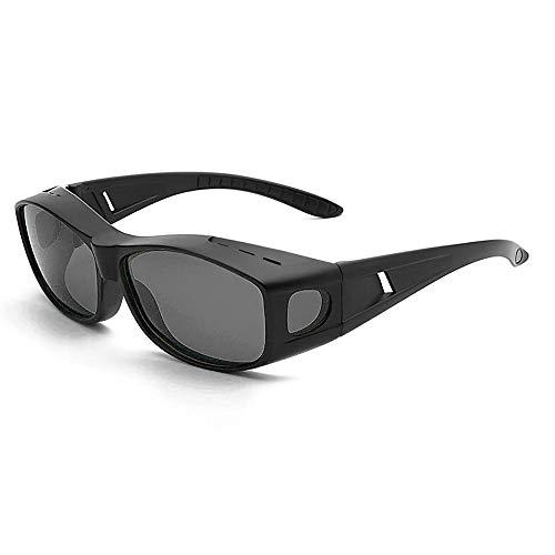 夜間サングラス メンズ 夜間用オーバーサングラス ナイトドライブ用サングラス 偏光サングラス 夜間運転用スポーツ用サングラス メガネの上から
