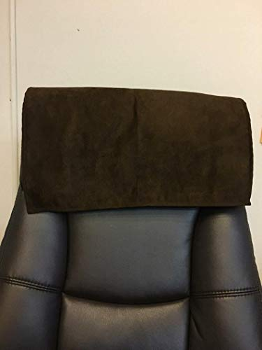 luvfabrics Simple Suede Furniture Protector, Leather Recliner Damage Prevention, Head Rest, Sofa, Love seat, Leather Protector, Computer Chair, Couch Cover (Chocolate, 14 by 30 Inch)