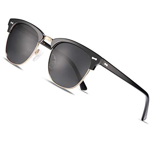 TSEBAN Polarisierte Damen Sonnenbrille UV 400 Schutz Frauen Brille Acetatrahmen