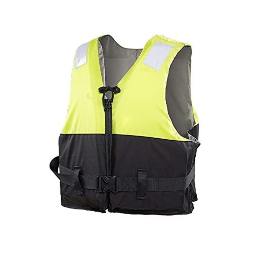 Chaleco Salvavidas para Adultos, flotabilidad efectiva 75n / 24 Horas o más, cinturón de Transporte Ligero, Chaleco Deportivo de Deportes de Agua Profesional-Verde_XXL