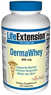 Life Extension Derma Whey 400mg Capsule, 60-Count