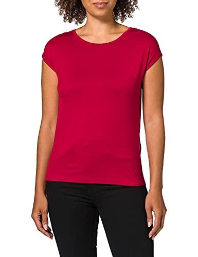 STREET ONE Damen Crista T-Shirt, Gentle red, 46 EU