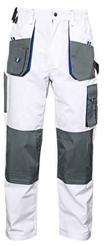 Stenso Emerton® - Herren Arbeitshose Bundhose/Cargohose - strapazierfähig - Weiß EU60