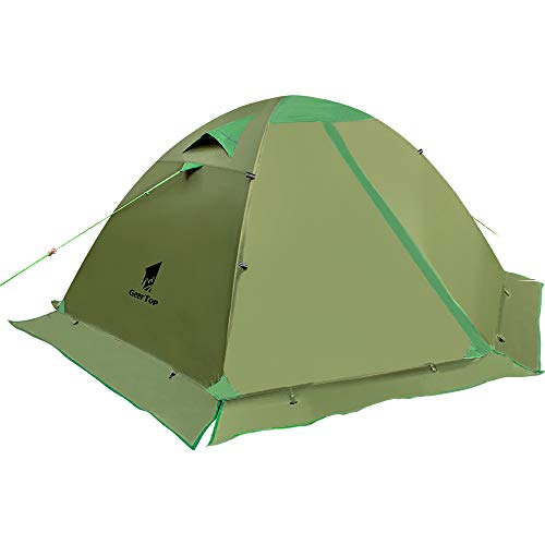GEERTOP Camping Tent for 2 Person 4 Season Backpacking Tent Double Layer Waterproof for Outdoor Hunting, Hiking, Climbing, Travel – Easy Set Up