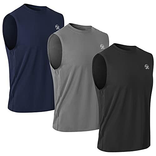 MEETWEE Canotte Uomo, Mesh Asciugatura Rapida Maglie Senza Maniche Fitness T-Shirt da Sport per Corsa Palestra Gym Running