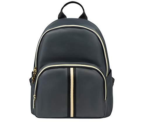 YANAIER Ladies Fashion Backpack Rucksack Waterproof Nylon Shoulder Bag Anti-theft Travel Bag Daypack for Women Girls Grey