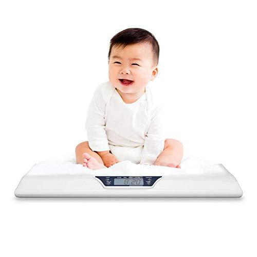 LFEWOU Digitale Babywaage Kinderwaage bis 20kg, Flache Digitalwaage für Neugeborene Frühchen Säuglinge und Babys, Waage mit LCD Display, Tierwaage, Säuglingswaage