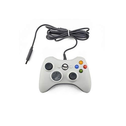 Optimiert für Spiele  USB Wired Gamepad für Xbox 360 Controller Joystick für offiziellen Microsoft PC Controller für Windows 7 8 10-White-