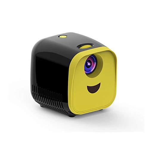 WXF Mini-LED-Projektor, Video Children Home Family Theater Filmprojektor 480 * 320 Native Auflösung 50000 Stunden Mit Fernbedienung Für Laptop PC-TV-Geschenk Für Familie,A