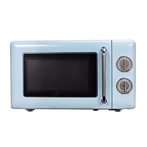 Horno de microondas Retro, microondas de encimera de Cocina/Potencia de Fuego de 6 velocidades/Sensor Inteligente, 0,7 pies cúbicos de fácil Limpieza en el Interior, Capacidad