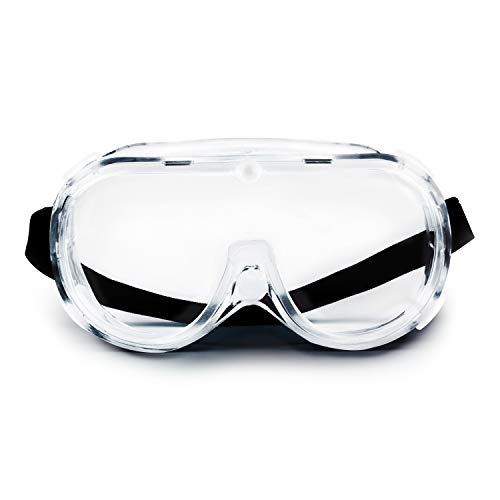 V by Vye | Safety Goggles | 10 Pack Protective Eyewear Anti-Fog Clear Safety Glasses for Men and Women | for Work and Play - Ships Direct from USA