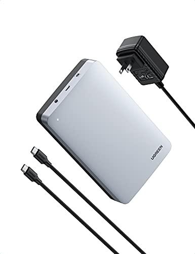"""UGREEN Case per Disco Rigido 3,5"""" USB C 3.1 Gen 2 con UASP per HDD SSD SATA I/II/III, 16 TB Max, Compatibile con PC, PS4, Xbox 360, Xbox One, con Cavo USB C e Alimentatore 12V"""