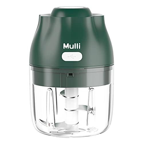 Mulli電気ガーリックチョッパー、250mLミニフードチョッパー、のポータブルプロセッサー野菜/スパイス/調味料/ベビーフード用、BPAフリー