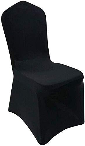 Elise Spandex Stretch stoelhoes voor banketten, stoelhoezen voor bruiloften, banketten decoratie (zwart)