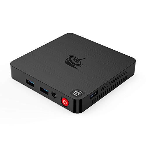 Beelink T4 Mini Pc Windows 10 Intel Quad Core x5-Z8500 Processor (up to 2.24 Ghz) 4GB DDR3/64GB eMMC Mini Desktop Computer, Dual WiFi, Gigabit Ethernet, 4K HD HDMI & DP Ports. Support Auto Power On