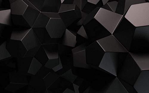 RIII DIY 5D Diamant Malerei nach Anzahl Kits 3D Schwarz Polygone Malerei Kreuzstich Vollbohrkristall für Home Wall Decor Geschenk 30 * 40cm