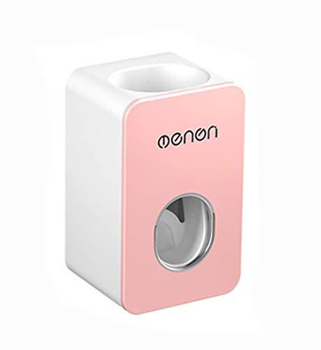 MHTECH-Dispenser Automatico di dentifricio a Parete-Antipolvere (7x6x11cm) -Rosa