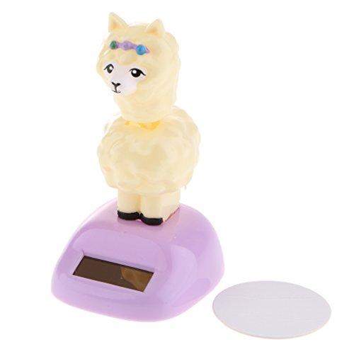 HomeDecTime Solar Power Tier Figur Für Auto Dekoration Swing Tier Spielzeug Geschenk - Alpaka