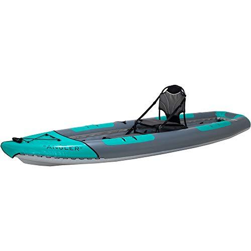AIRE Tributary Angler 11 Inflatable Fishing Kayak-Teal/Gray