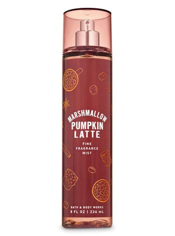 構造的ラベ川【Bath&Body Works/バス&ボディワークス】 ファインフレグランスミスト マシュマロパンプキンラテ Fine Fragrance Mist Marshmallow Pumpkin Latte 8oz (236ml) [並行輸入品]