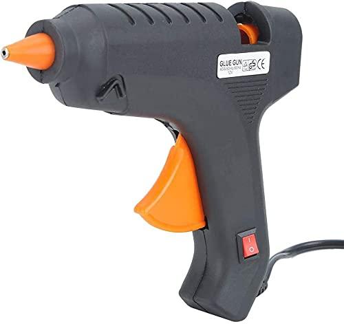 Pistola De Silicona Caliente Profesional 60W Con 10 Unidades de Barras De Silicona   Manualidades Madera Niños Adultos Pegamento Textil Pistola De Calor