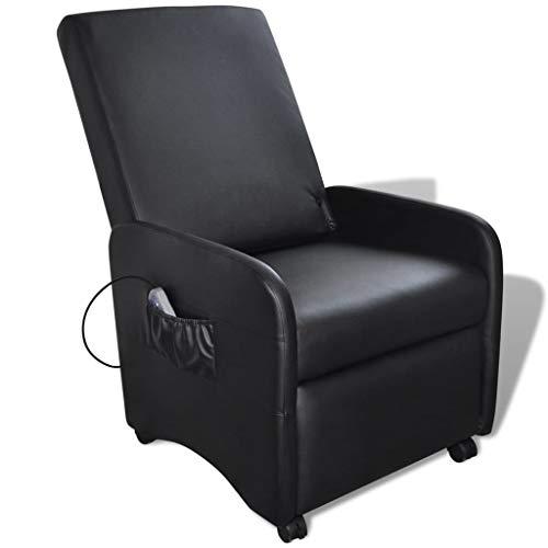 vidaXL Kunstleder Massagesessel Relaxsessel Massage TV Fernsehsessel + Heizung