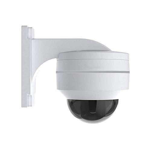 H.VIEW PoE IP PTZ Kamera 5MP Dome Überwachungskamera FHD ONVIF 5X Optischer Zoom 3.05-15.5mm Schwenkbare Sicherheitskamera für Außen/Innen Wetterfest IP67 Tag/IR Nachtsicht/Bewegungserkennung