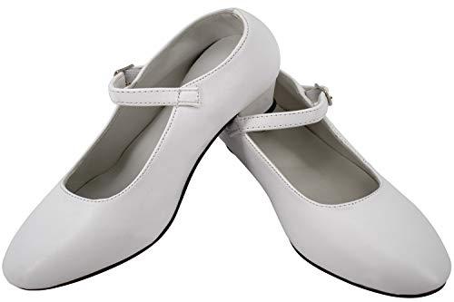 Gojoy shop - Scarpa con tacco da danza, ballerina e fenicotteri per bambine e donne, 5 colori disponibili (bianco, 39)