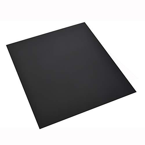 FIREFIX 1556/1 Stahlbodenplatte (Hitzeschutz Ofen), Rechteck-Bodenplatte (900 x 1.050 mm), 2 mm Starkes Stahlblech, Lackierung Senotherm UHT-Hydro-schwarz