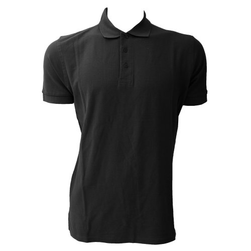 Jerzees Colours Ultimate Herren Polo-Shirt, Kurzarm (4XL) (Schwarz)