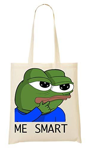 Me Smart Funny Frog Meme Tragetasche Einkaufstasche