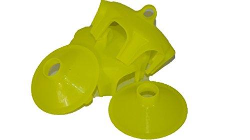 TAP-TRAP 8017020 Trap Tappo Trappola per INTITI E LUMACHE da Usare con I VASI在VETRO da CONSERVAZIONE Confezione da 2 Pezzi Repel-pesticidi, Yellow
