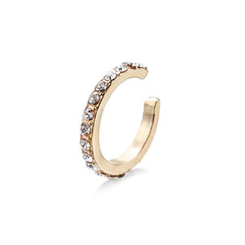 CZ Ear Cuff Jewelry Pendientes de Clip no Perforados sin perforación Coreano Gold Cricle Hoop Ear Jewelry Minimalista