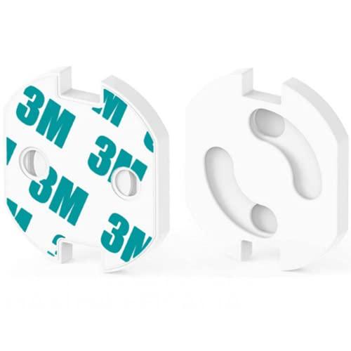 HOMYBABY® [25pcs] Protector enchufes para bebes y niños | Kit Seguridad Infantil | Producto Certificado (CE) | Cubre Enchufes | Tapa enchufes bebe con mecanismo de giro + adhesivo 3M | Seguridad bebe