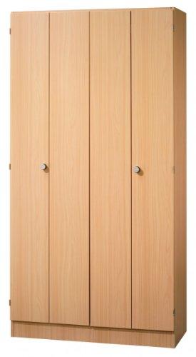Büroschrank Hammerbacher Solid 100 cm 5 Fächer Holz Dekor wählbar, Dekor:Buche