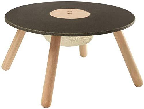 Plantoys- Ronde tafel meubel ecologisch, speelgoed, zwart, hout (8605)