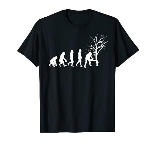 Axe Forester Motosierra Evolución Leñador Tala De árboles Camiseta