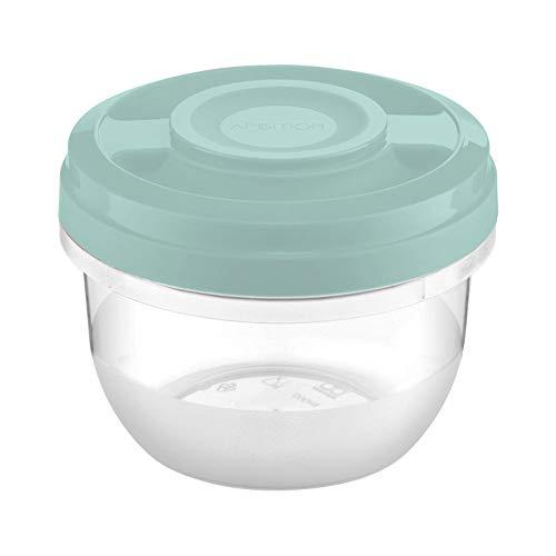 Ambition 51778 - Recipiente para microondas (0,5 L, plástico), color verde