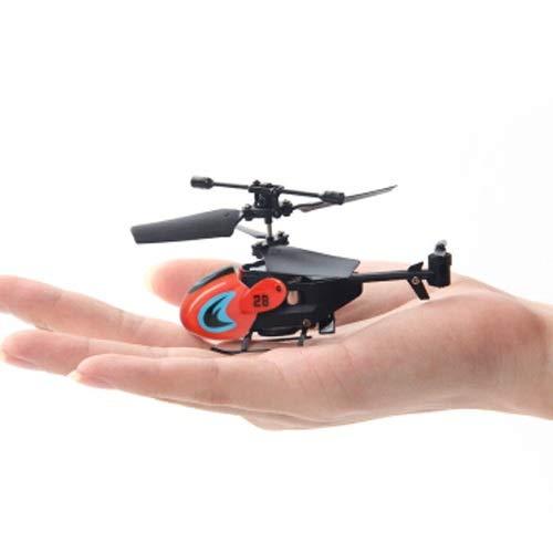 Lihgfw Fingerspitzenhubschrauber 3,5-Kanal-Mini-Hubschrauber Drohne Tasche Fliegende Fahrzeug Fallresistente Fernbedienung Flugzeuge Fernbedienung Flugzeug Modell Laden Kinderspielzeug (Color : Rot)