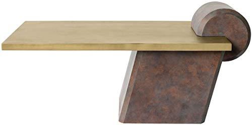 Casa Padrino Mesa de Centro de diseño latón/Cobre Antiguo 115 x 60 x A. 53 cm - Mesa de salón de hormigón Reforzado con Fibra de Vidrio - Calidad